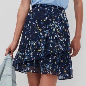 Banana Republic Flirty Ruffle Floral Mini Skirt